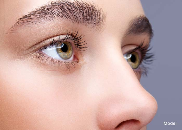 Up close of woman's eyes
