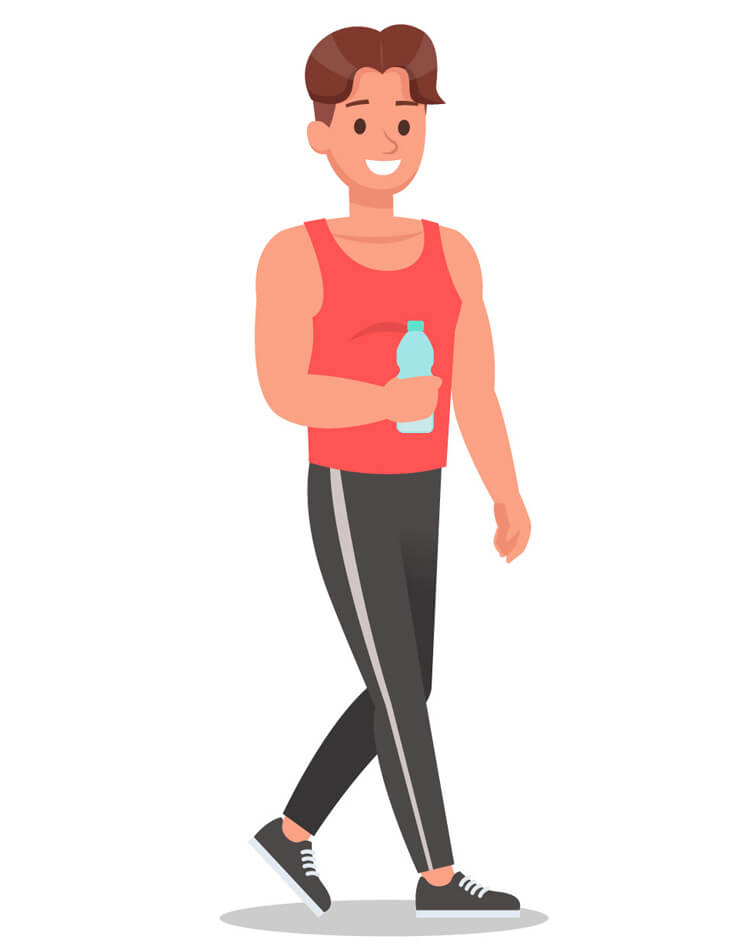 walking cartoon